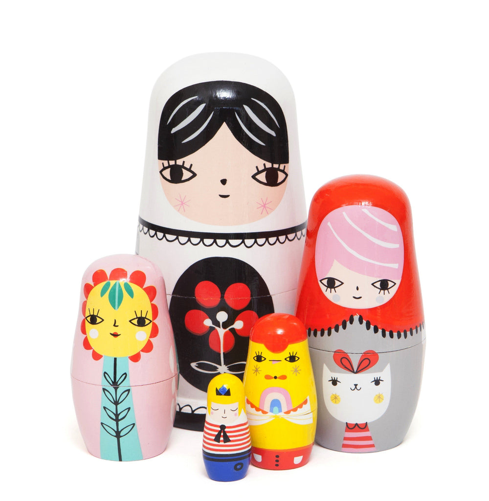 LOVE THIS! Nesting Dolls Fleur & Friends from Petit Monkey - shop at littlewhimsy NZ
