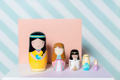 LOVE THIS! Nesting Dolls Princess from Petit Monkey - shop at littlewhimsy NZ