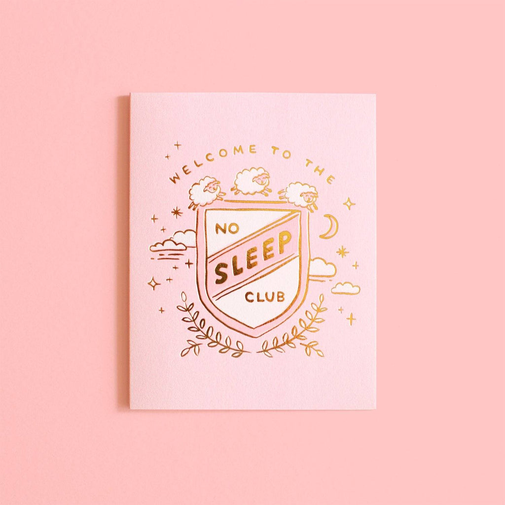 LOVE THIS! No Sleep Club Greeting Card from Fox & Fallow - shop at littlewhimsy NZ