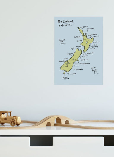 LOVE THIS! NZ Map Decal - Reusable from 100 Percent Heart - shop at littlewhimsy NZ
