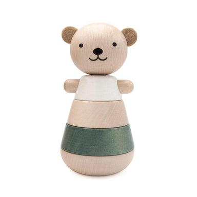 LOVE THIS! Stacking Wooden Bear - Green from Briki Vroom Vroom - shop at littlewhimsy NZ