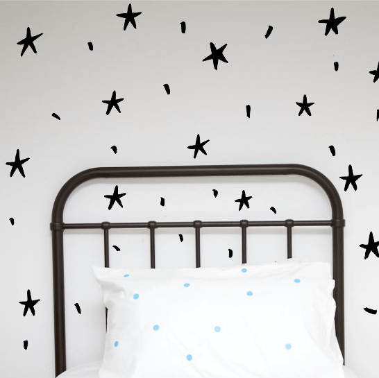 Wall Decals - Hand painted Stars - little whimsy - 1