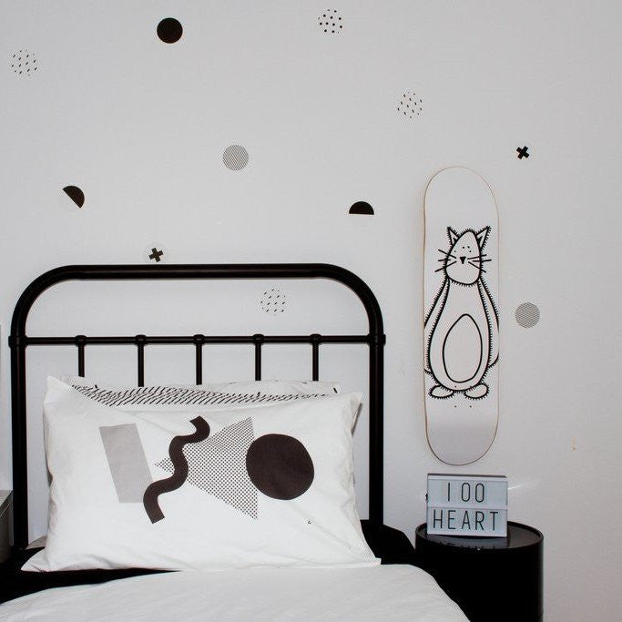 LOVE THIS! Wall Decals - Black & White Polka Dots from 100 Percent Heart - shop at littlewhimsy NZ