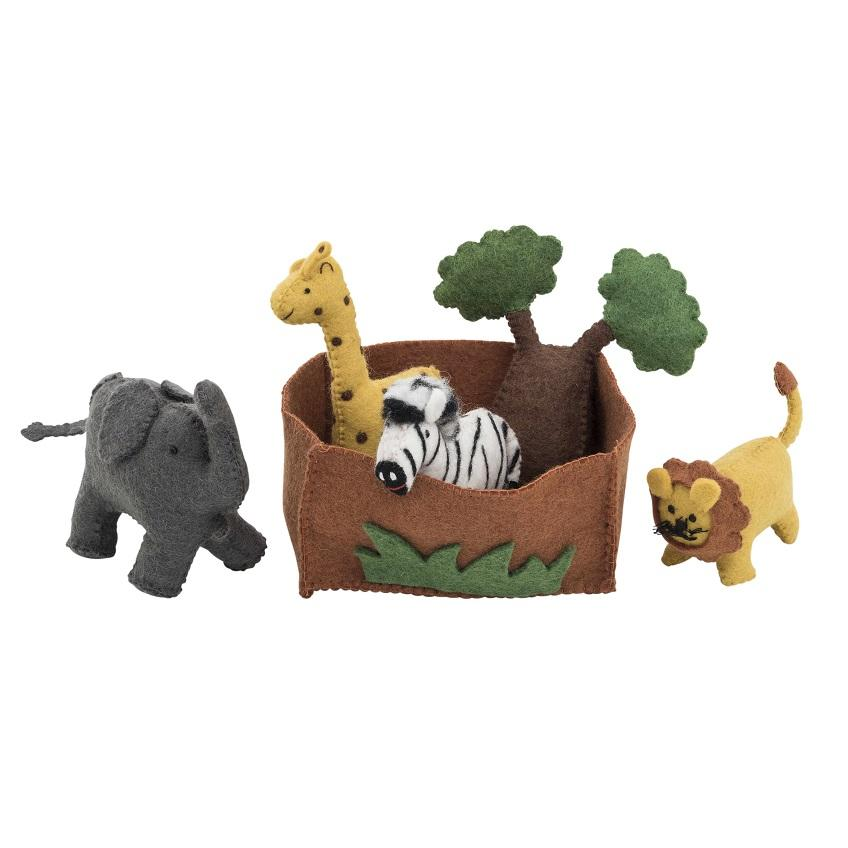 LOVE THIS! African Animal Play Set from Pashom - shop at littlewhimsy NZ