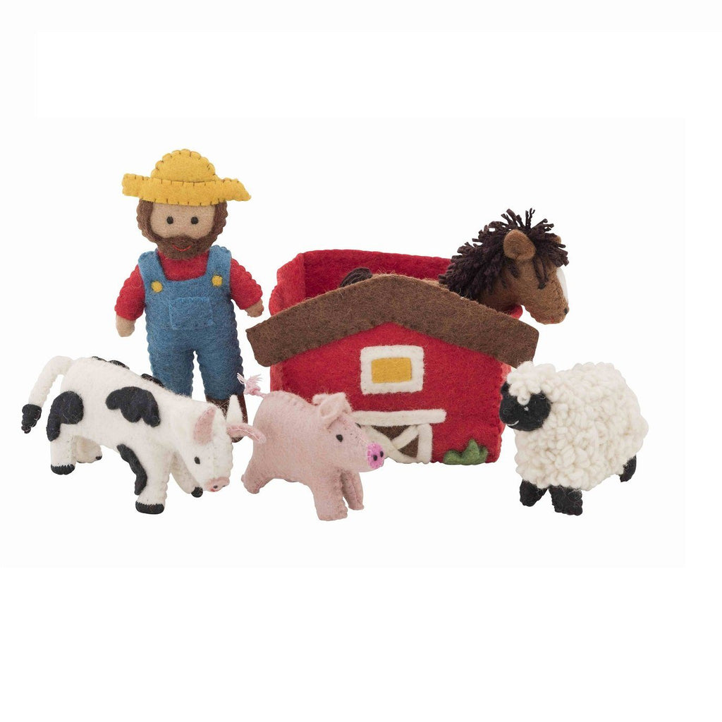 LOVE THIS! Farmyard Play Set from Pashom - shop at littlewhimsy NZ