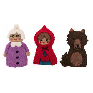 Felt Puppet Set - Red Riding Hood