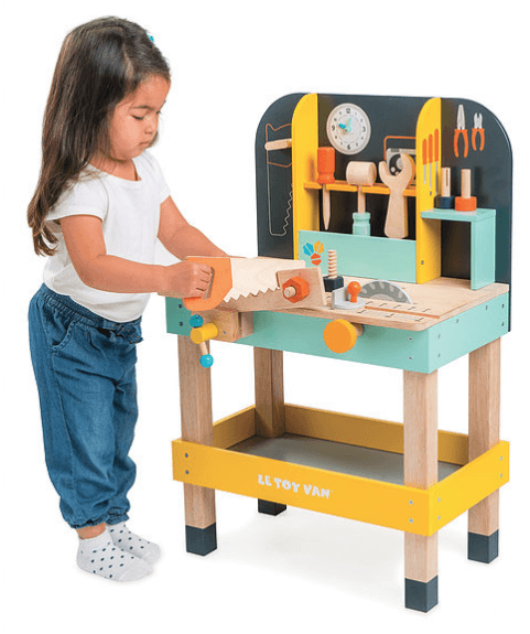LOVE THIS! Le Toy Van Alex's Work Tool Bench from Le Toy Van - shop at littlewhimsy NZ