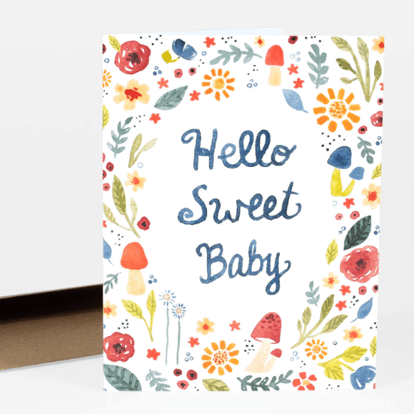LOVE THIS! Hello Sweet Baby Greeting Card from Little Truths Studio - shop at littlewhimsy NZ