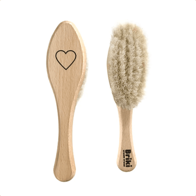 LOVE THIS! Wooden Heart Hairbrush from Briki Vroom Vroom - shop at littlewhimsy NZ