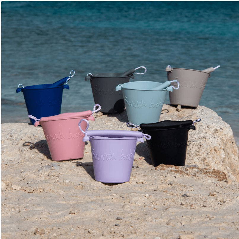 LOVE THIS! Scrunch Collapsible Bucket - Warm Grey from Scrunch - shop at littlewhimsy NZ