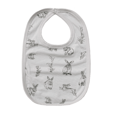LOVE THIS! Essentials Bib - Grey Burrowers from Burrow & Be - shop at littlewhimsy NZ