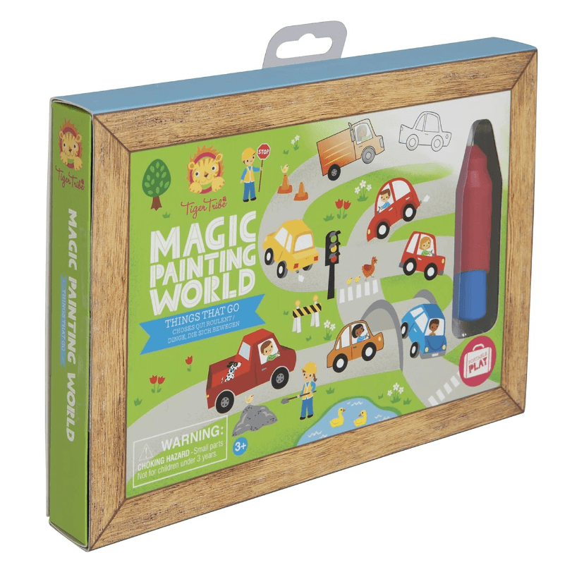 LOVE THIS! Magic Painting World - Things that Go from Tiger Tribe - shop at littlewhimsy NZ