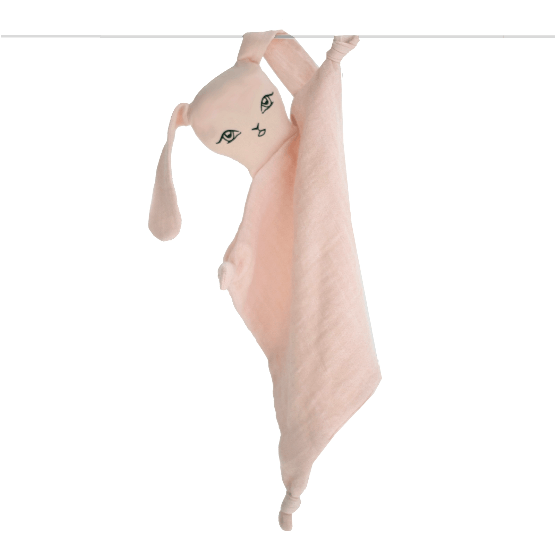 LOVE THIS! Muslin Bunny Comforter - Blush from Burrow & Be - shop at littlewhimsy NZ
