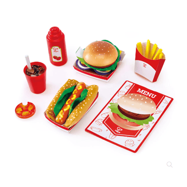 LOVE THIS! Hape Fast Food Set from Hape - shop at littlewhimsy NZ