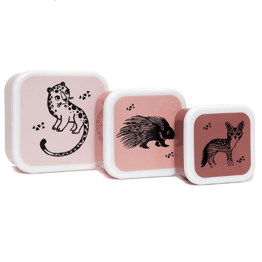 LOVE THIS! Lunchbox Set Animals from Petit Monkey - shop at littlewhimsy NZ