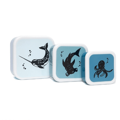 LOVE THIS! Lunchbox Set Sea Animals from Petit Monkey - shop at littlewhimsy NZ