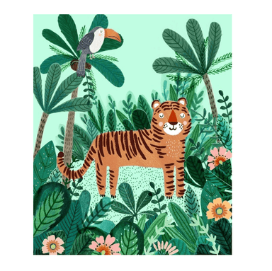 LOVE THIS! Poster Tiger from Petit Monkey - shop at littlewhimsy NZ