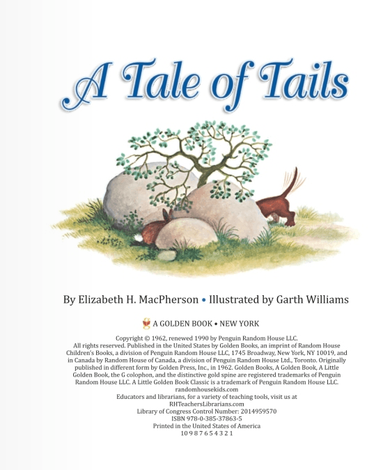 LOVE THIS! Little Golden Book - A Tale of Tails from Penguin Books - shop at littlewhimsy NZ