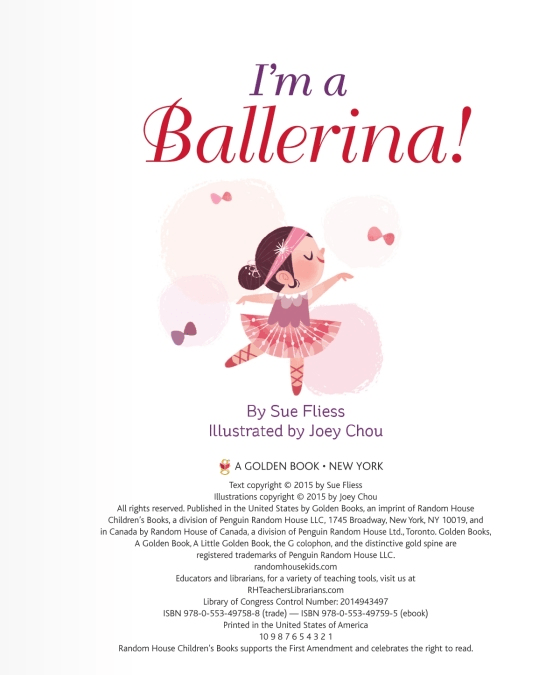 LOVE THIS! Little Golden Book - I'm A Ballerina! from Penguin Books - shop at littlewhimsy NZ