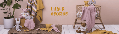 LOVE THIS! Grey the Bunny Comforter from Lily & George - shop at littlewhimsy NZ