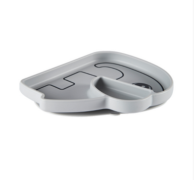Stick + Stay Elephant Plate - Grey