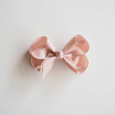 Hair Clip Bow - Nude Pink Medium