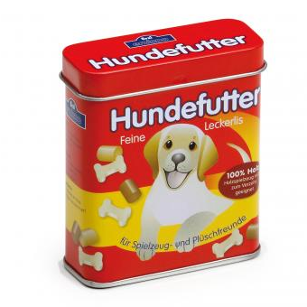 Wooden Dog Food in a Tin