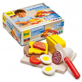Wooden Food Sandwich Cutting Set