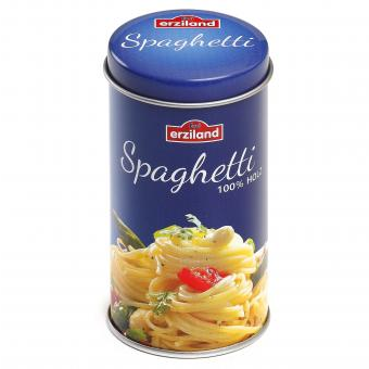 Wooden Food Spaghetti in a Tin