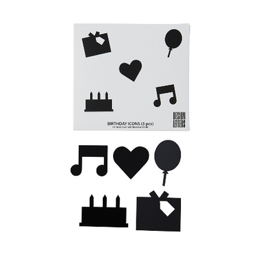 Happy Birthday Icons for Message Boards Black