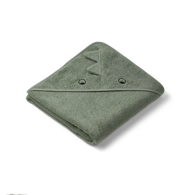 Liewood Bath Augusta Hooded Towel - Dino Faune Green