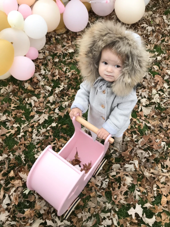Moover Pale Pink Pram  SOLD OUT TILL LATE-2020
