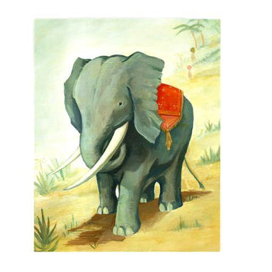 Elephant Art Print Larger 11x14""