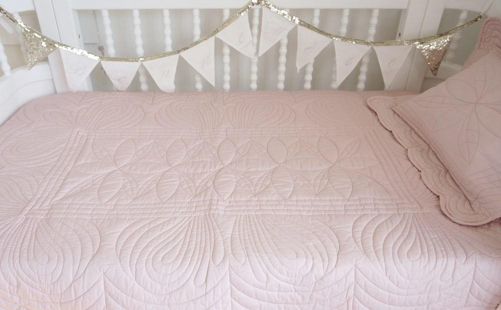 LOVE THIS! Bonne Mere - King Single Bedspread Quilt and Pillow Set - Shell Pink from Bonne Mere - shop at littlewhimsy NZ