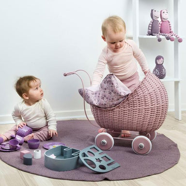 LOVE THIS! Smallstuff Doll Pram - Powder from Smallstuff - shop at littlewhimsy NZ