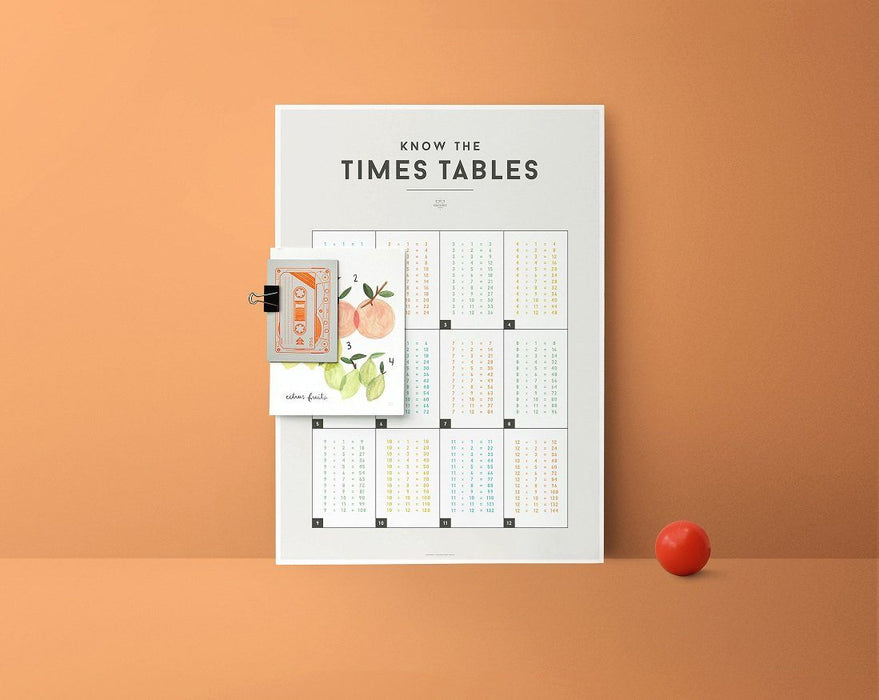 LOVE THIS! Squared Charts - Times Tables from Squared Charts - shop at littlewhimsy NZ