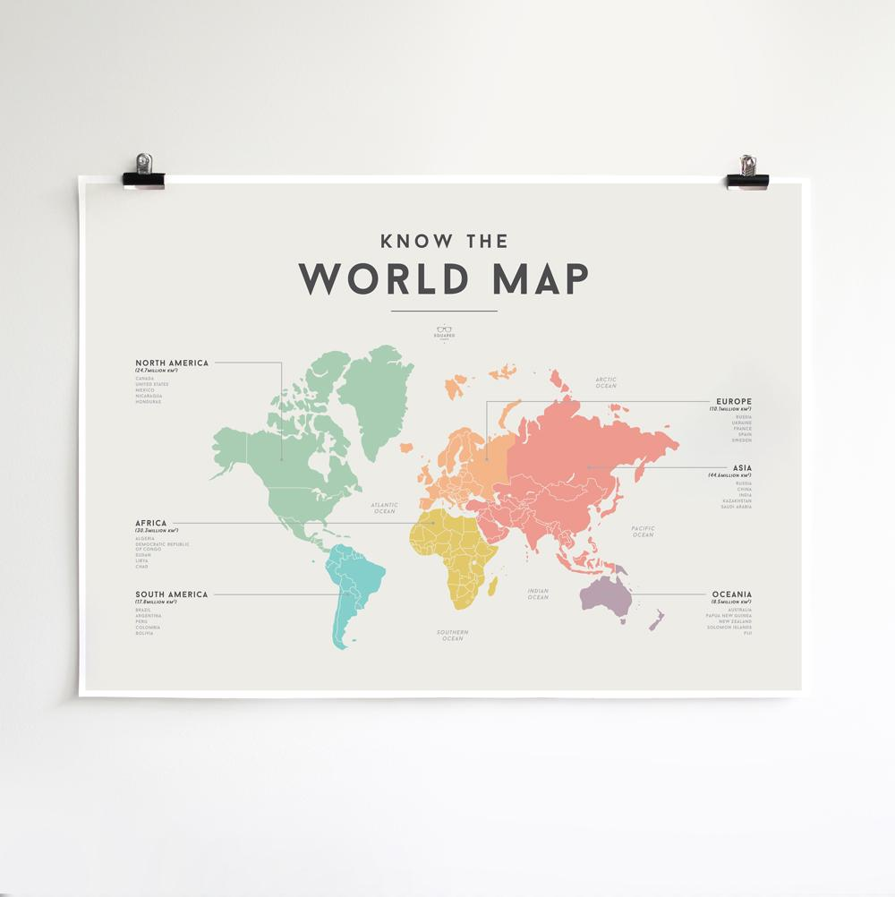 LOVE THIS! Squared Charts - World Map from Squared Charts - shop at littlewhimsy NZ