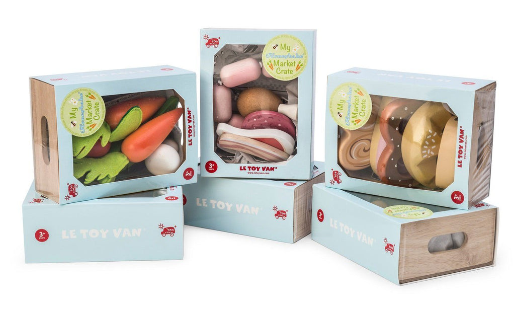 LOVE THIS! Le Toy Van Honeybake Market Meat Crate from Le Toy Van - shop at littlewhimsy NZ