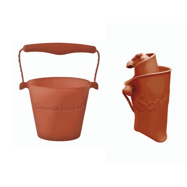 Scrunch Collapsible Bucket - Rust