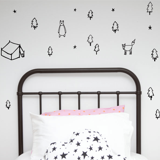 LOVE THIS! Wall Decals - Woodland Scene from 100 Percent Heart - shop at littlewhimsy NZ