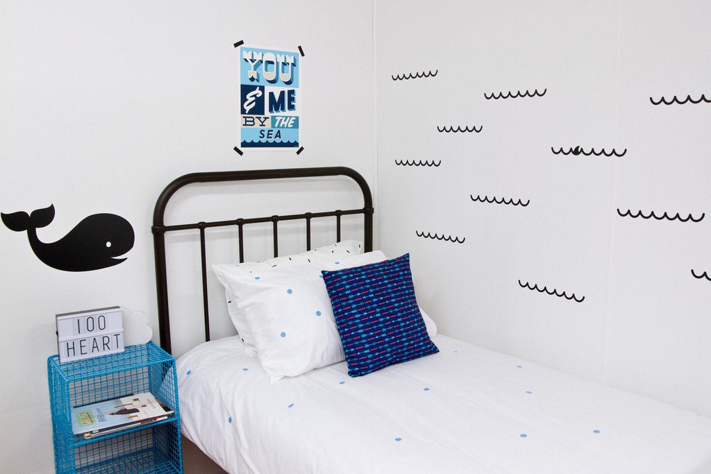 LOVE THIS! Wall Decals - Waves from 100 Percent Heart - shop at littlewhimsy NZ
