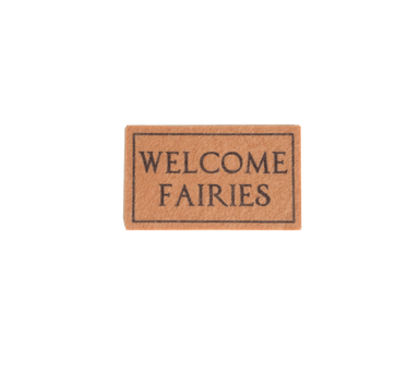 LOVE THIS! Fairy Miniature Welcome Mat from My Wee Fairy Door - shop at littlewhimsy NZ