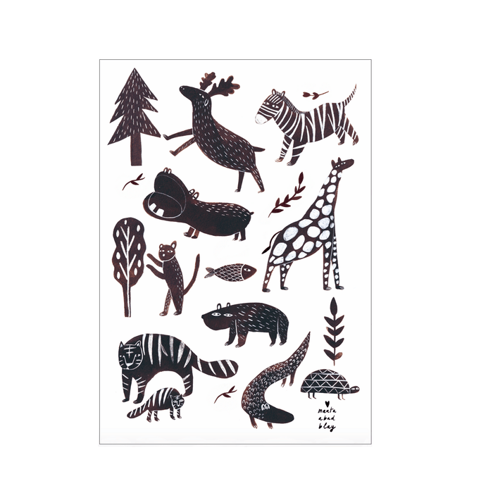 LOVE THIS! Marta Abad Blay Wild Animals Print from Marta Abad Blay - shop at littlewhimsy NZ