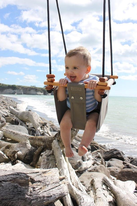 LOVE THIS! Solvej Baby + Toddler Swings - Classic Taupe from Solvej Swings - shop at littlewhimsy NZ