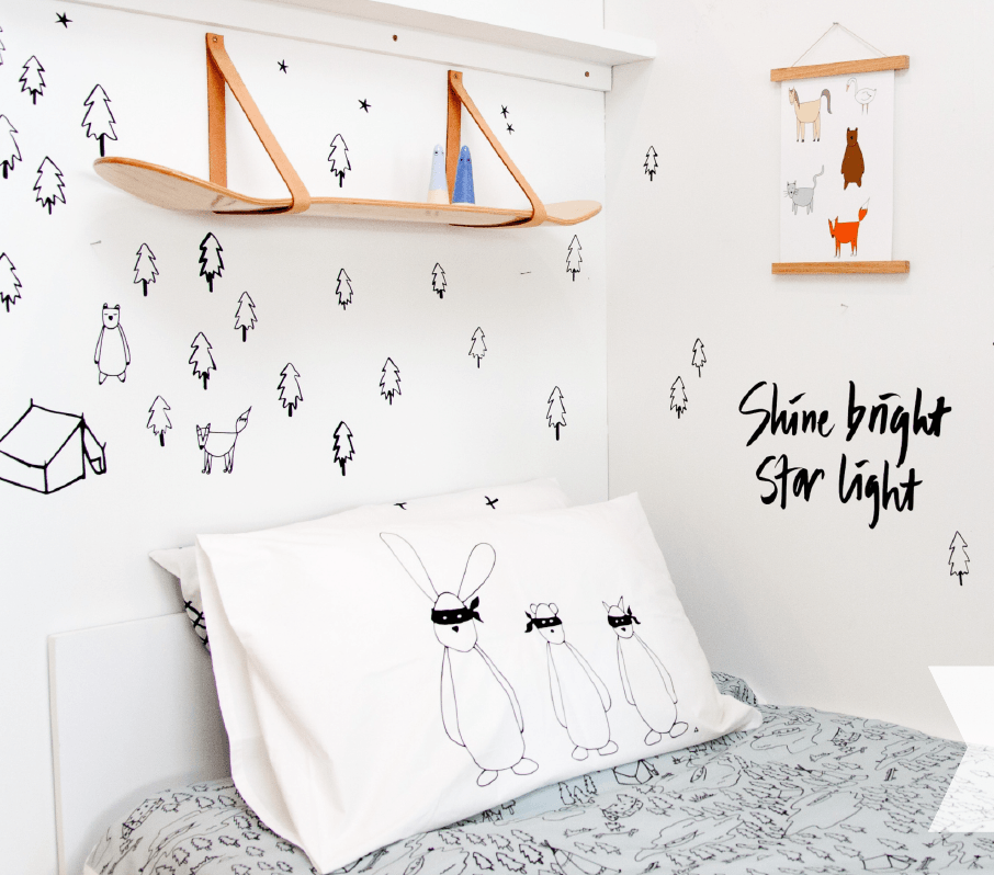 LOVE THIS! The Gang Organic Pillow Case from 100 Percent Heart - shop at littlewhimsy NZ