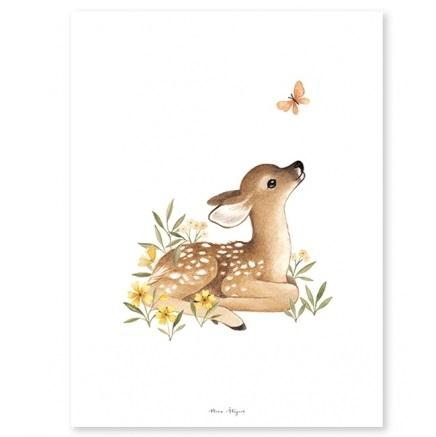 LOVE THIS! Fawn Art Print 30x40cm from Lilipinso - shop at littlewhimsy NZ