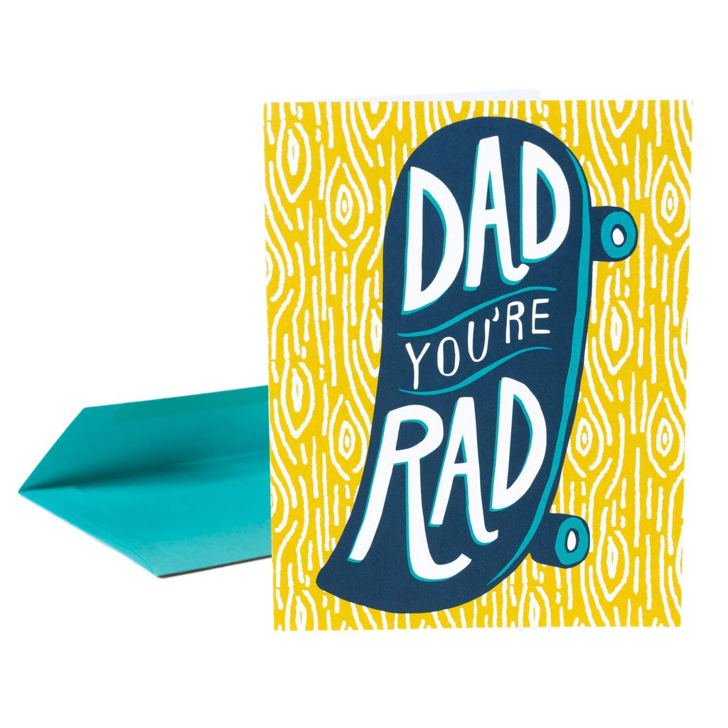 LOVE THIS! Dad You're Rad Card from Vikki Chu - shop at littlewhimsy NZ