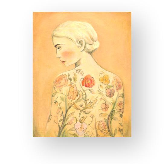 "LOVE THIS! Flora (The Tattooed Girl) Art Print Larger 11x14"" from Emily Winfield Martin - shop at littlewhimsy NZ"