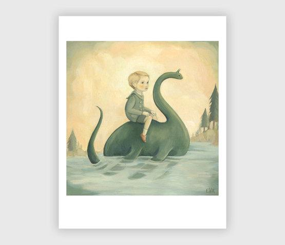 LOVE THIS! In The Secret Lake Art Print from Emily Winfield Martin - shop at littlewhimsy NZ