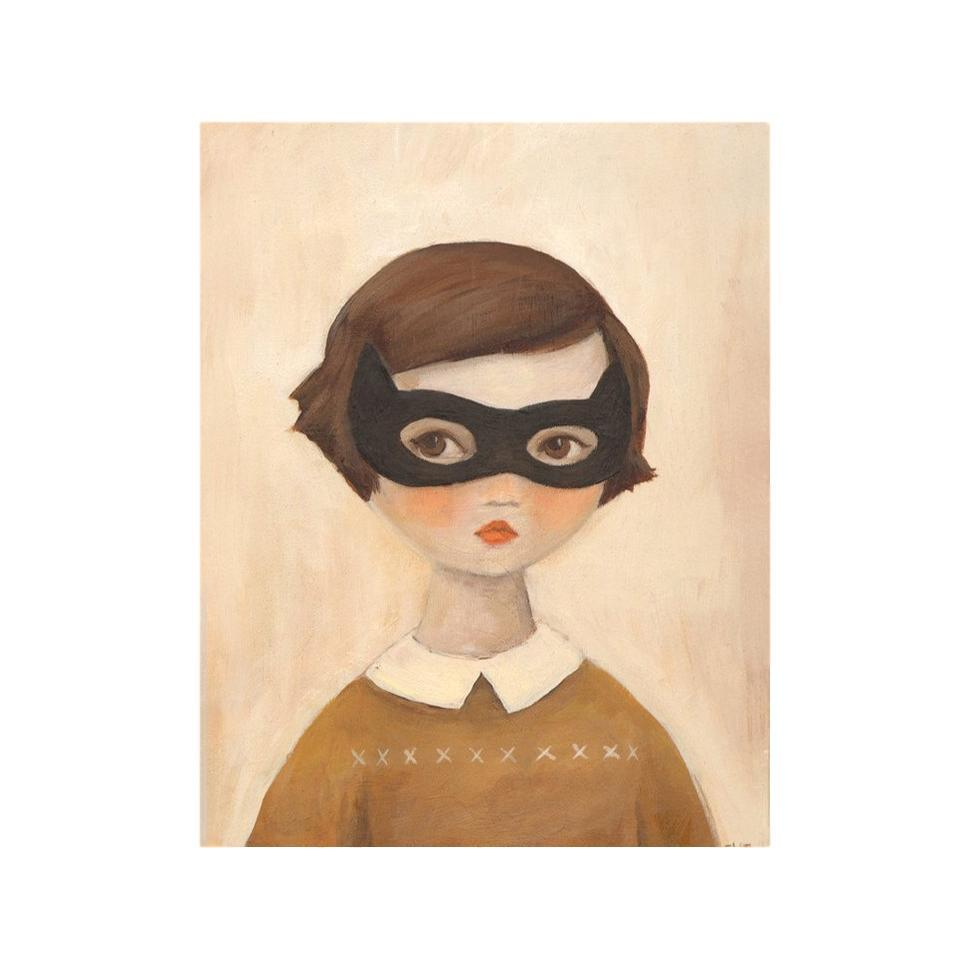 LOVE THIS! Kitten Bandit - Mysterious Girl Art Print from Emily Winfield Martin - shop at littlewhimsy NZ
